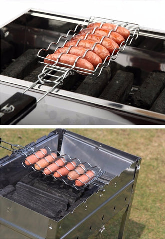 Outdoor BBQ Hot Dog Roller