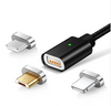 Image of magnetic 3 in 1 phone charging USB cable quickly