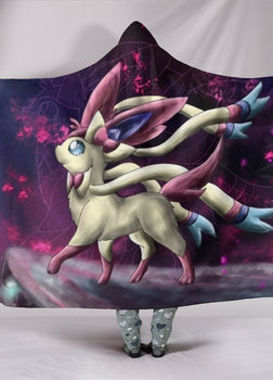 Pokemon Sylveon Hooded Blanket