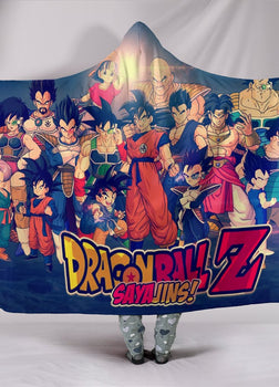 DBZ Sayajin Hooded Blanket