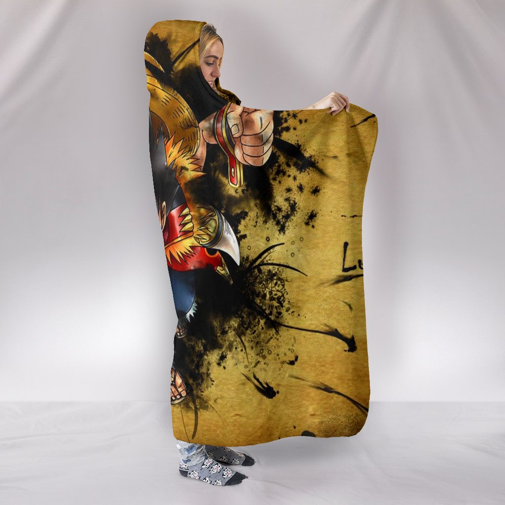 One Piece Luffy Angry Hooded Blanket