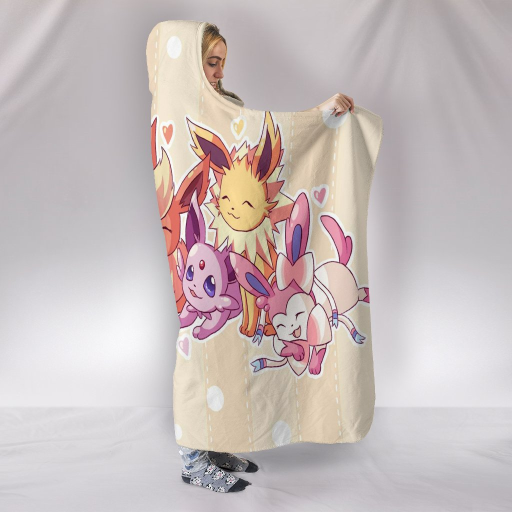 Pokemon Eevee Hooded Blanket
