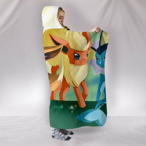Pokemon Eevee So Cute Hooded Blanket