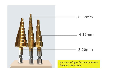 Save 3-SET HSS TITANIUM COATED DRILL BIT