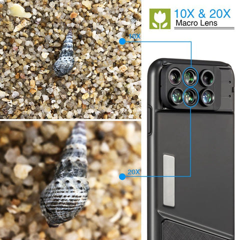 6-in-1 Lens Phone Case For iPhone