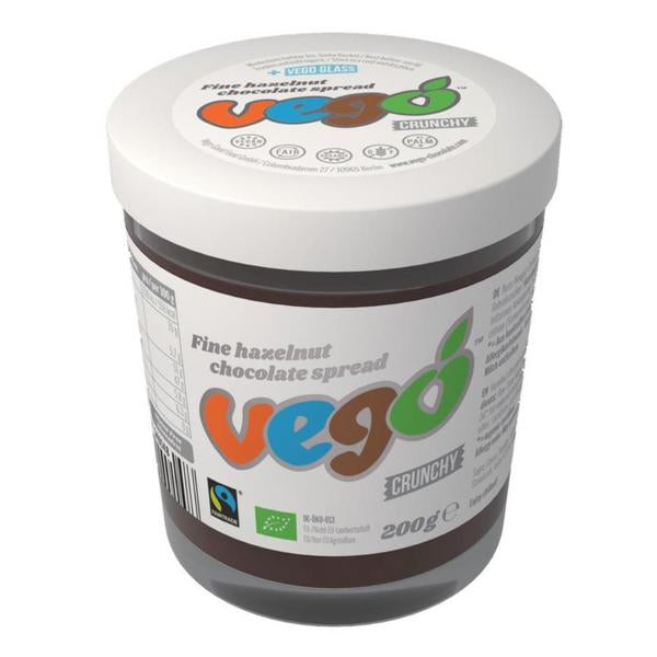 VEGO FINE-HAZELNUT Vegan chocolate spread - crunchy, organic, fairtrade 200g