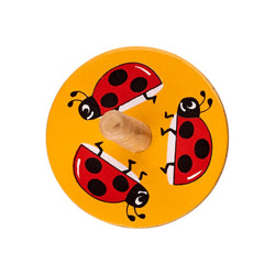 Ladybird spinning top