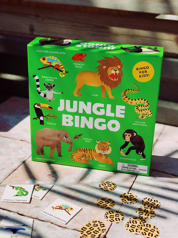 JUNGLE BINGO (ages 0-5yrs)