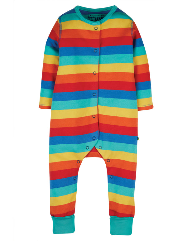 Riley Romper Rainbow Stripe