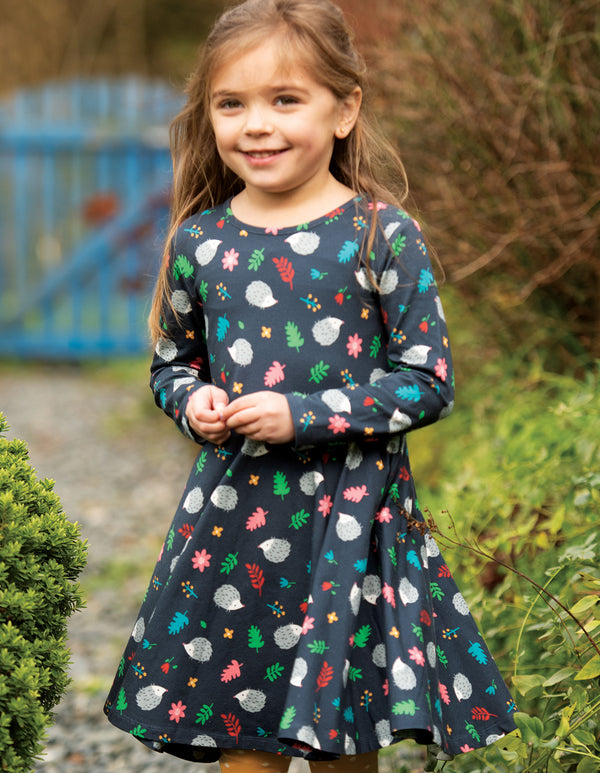 Sofia Skater Dress, Hedgehogs (3-6m/6-12m)