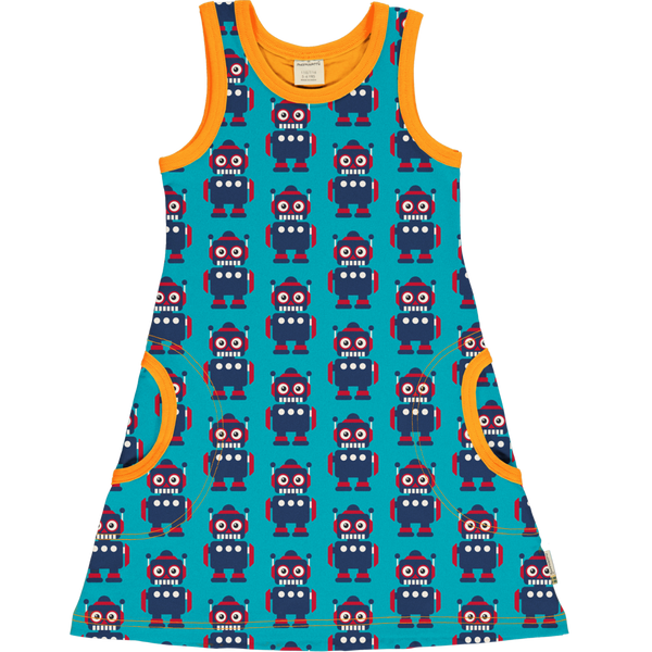 Maxomorra No Sleeved Dress  CLASSIC ROBOT