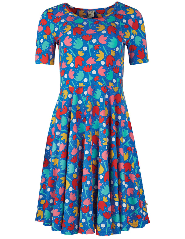 Grown Up Sofia Skater Dress, Lotus Bloom