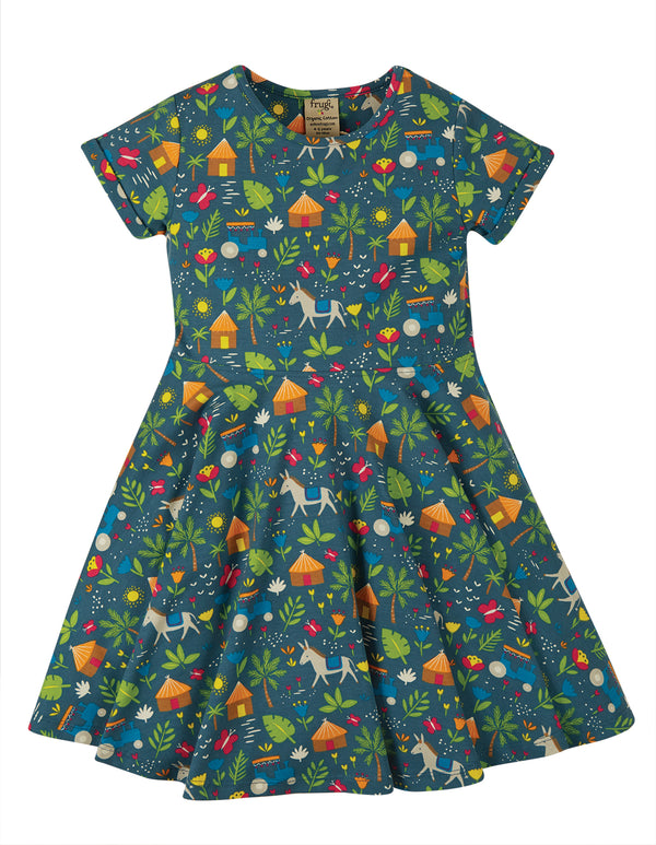 Sofia Skater Dress, Indigo Farm INDIE EXCLUSIVE
