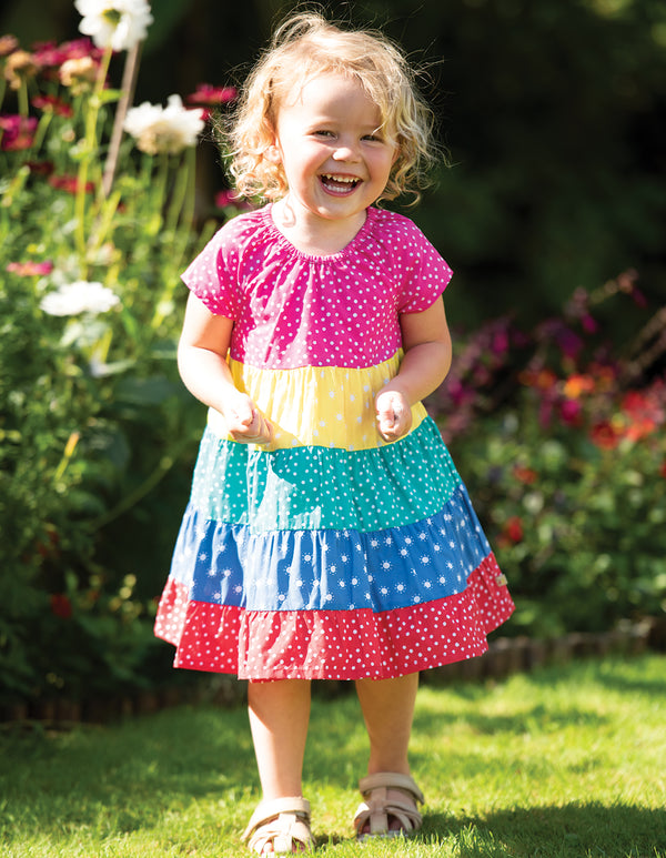Dorothy Twirly Dress, Rainbow