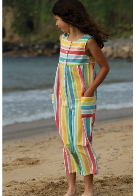 Julia Dungaree Rainbow Stripe NEW IN!