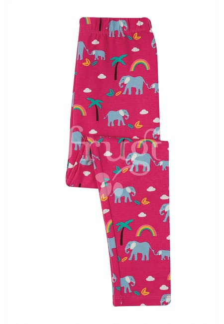 Libby Printed Leggings, Deep Pink Rainbow Walks