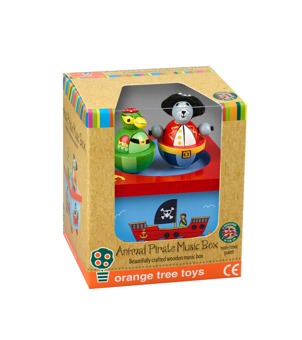 Animal Pirate Music Box