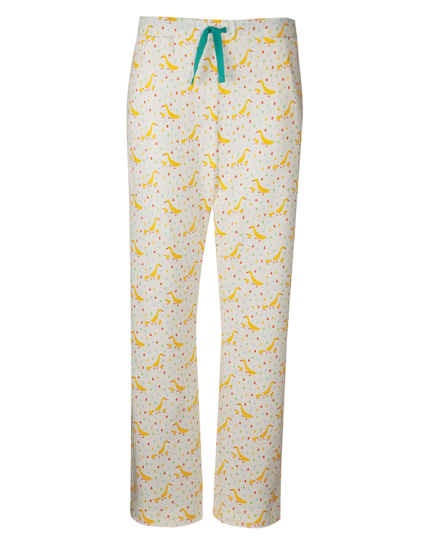Pansy PJ Bottoms, Soft White Runner Ducks