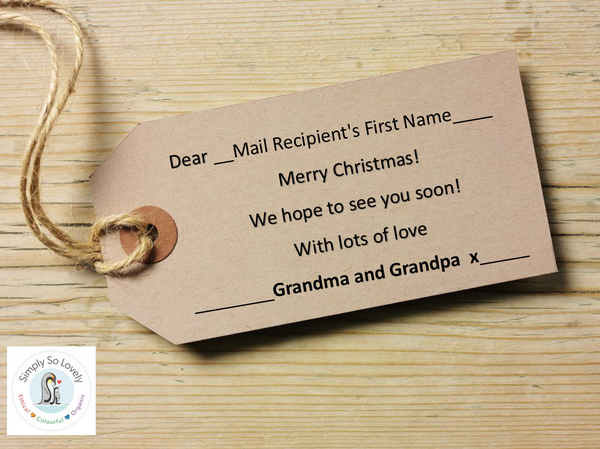 Personalised Tags- Merry Christmas from Grandpa and Grandpa