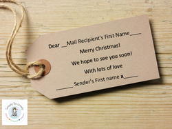 Personalised Tags- Merry Christmas