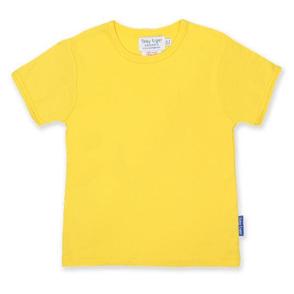 T-shirt. Toby Tiger Yellow Basic Short Sleeved