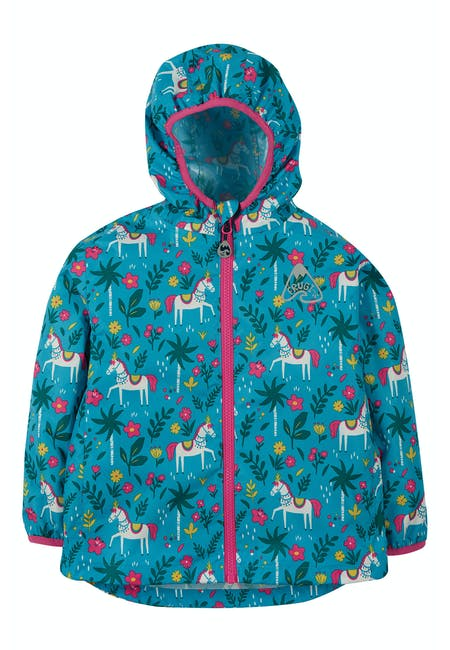 Rain Or Shine Jacket Teal Indian Horse