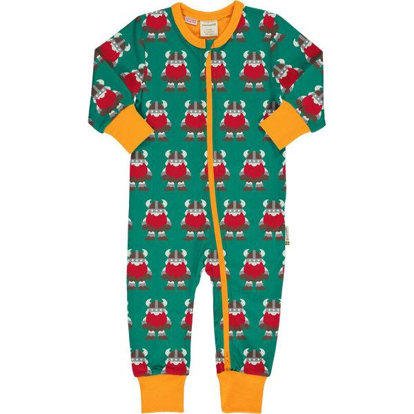 Maxomorra Long Sleeved Romper suit CLASSIC VIKINGS