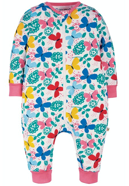 Summer Zip Babygrow, Mini Butterfly