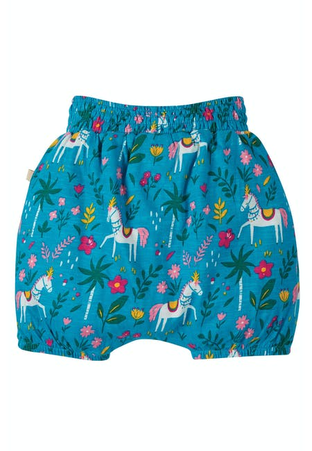 Steph Smocked Shorts, Teal Indian Horse  NEW IN!
