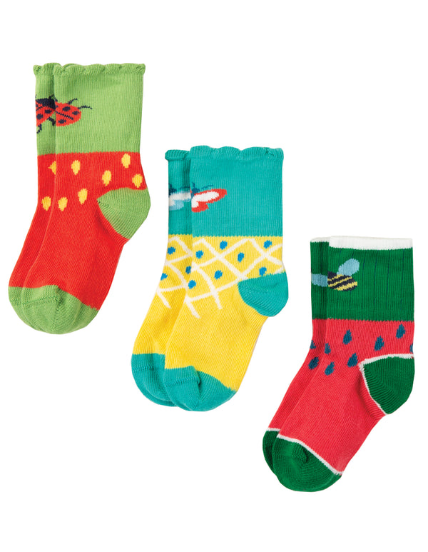 Little Tooty Socks 3 Pack, Fruit Mulitpack