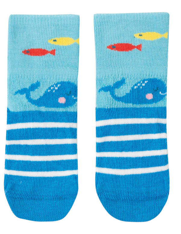 Perfect Little Pair Socks, Bright Sky/Whale