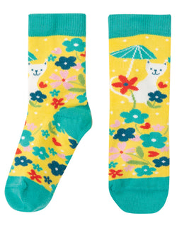 Perfect Pair Socks, Sunflower Spot/Cat