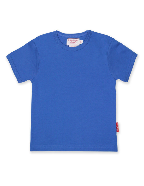 T-shirt. Toby Tiger Blue Basic Short Sleeved