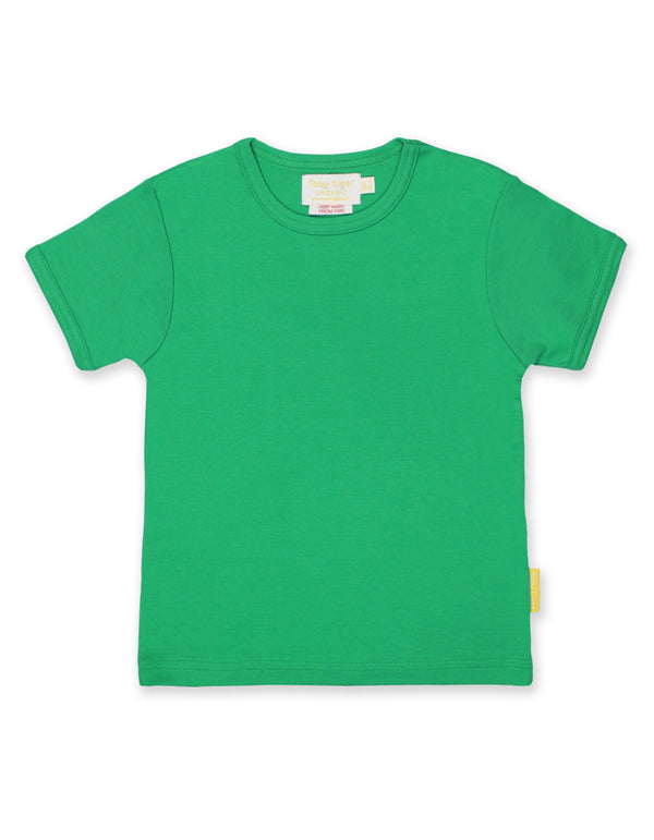 T-shirt. Toby Tiger Green Basic Short Sleeved