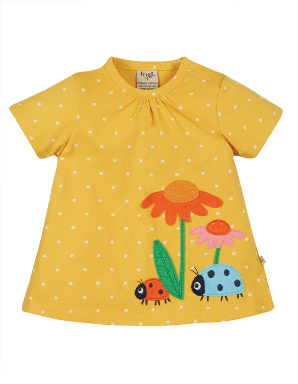 Eva Applique Top, Bumble Bee Spot/Flowers
