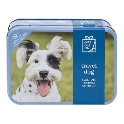Travel Dog in a tin