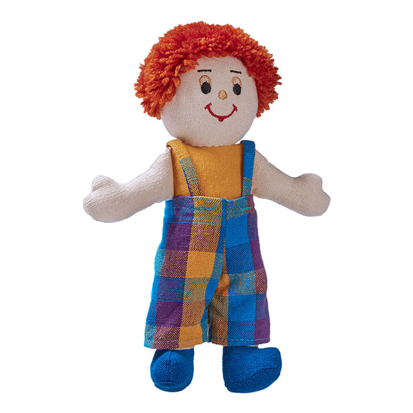Boy doll - white skin red hair (clothing colour may vary)