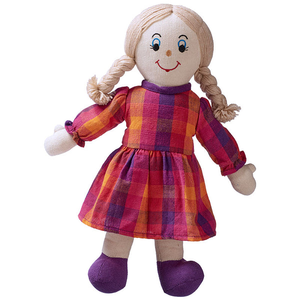 Mum Doll- white skin blonde hair (clothing colour may vary)