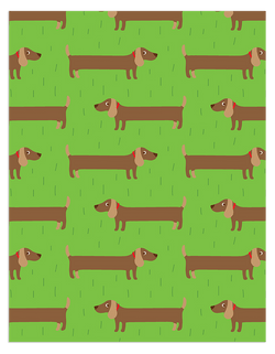 Sausage Dog Wrapping Paper
