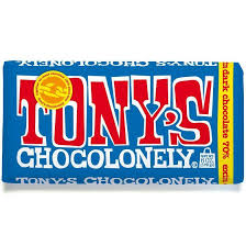 TONY'S CHOCOLONELY DARK CHOCOLATE - 180G