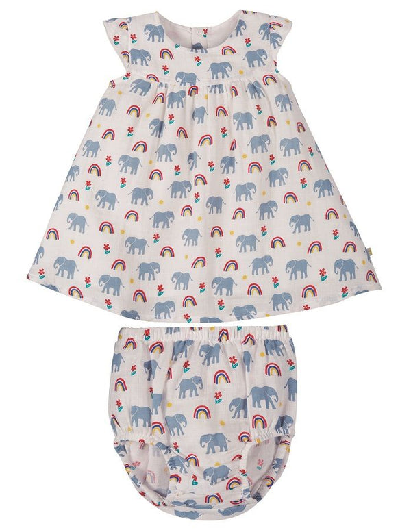 Dolly Muslin Outfit, Elephants NEW IN!