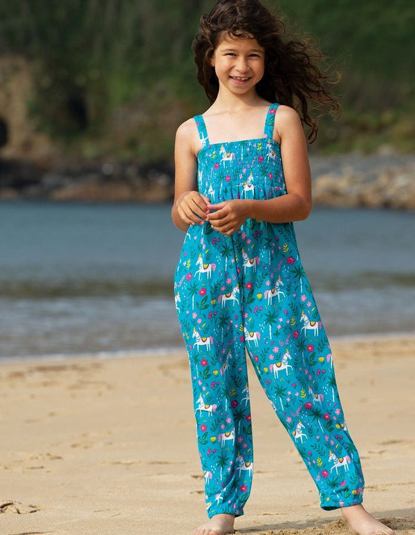 Indian Horse Senna Smocked Dungaree NEW IN!