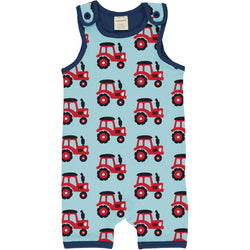 Maxomorra Playsuit Short (Dungaree) Tractor