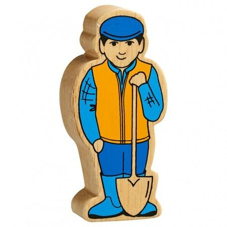 Blue and Yellow Farmer Man