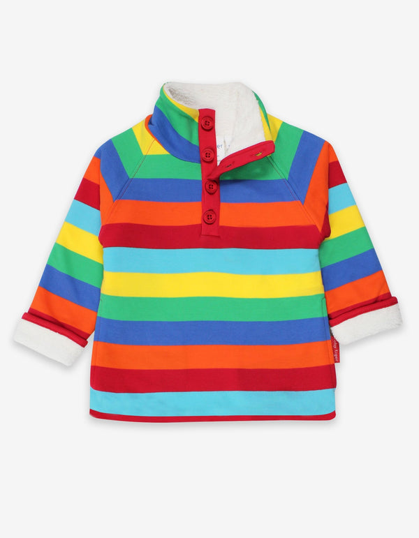 Organic Multi Stripe Cosy Fleece Sweatshirt