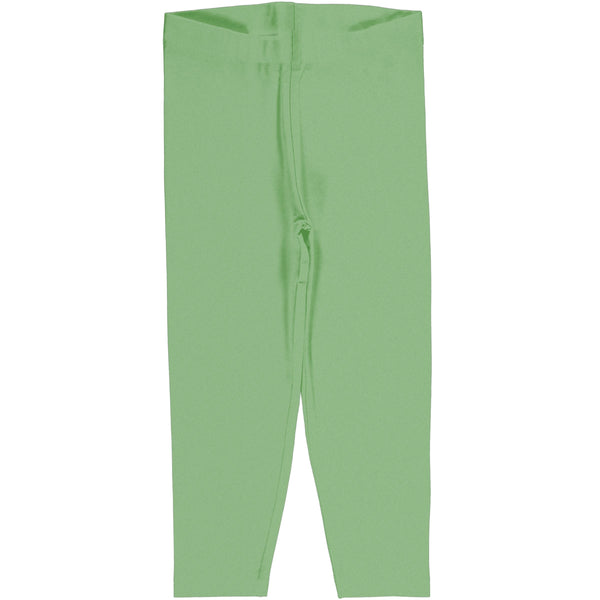 Meyadey Leggings Cropped Solid Greengage