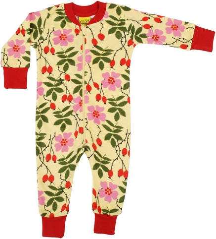 Long Sleeved Zip Suit Rosehips