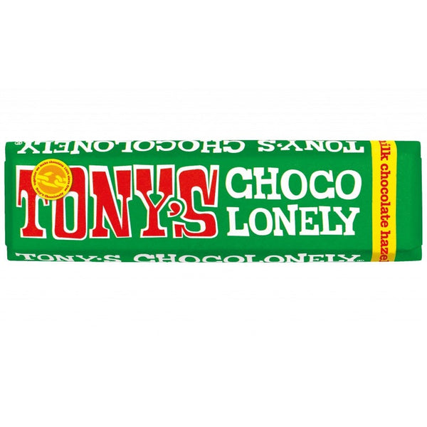Milk Hazelnut Tony's Fairtrade Chocolate 47g (CONTAINS NUTS)