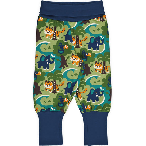 Maxomorra Rib Pants - Jungle