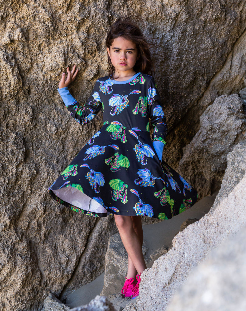 Astrid and Orion – The star Lighters | Twirl dress long sleeve